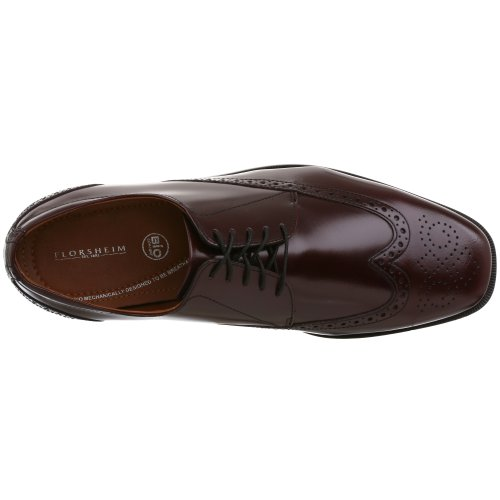 Florsheim Mens Tipper Wingtip Oxford Burgundy