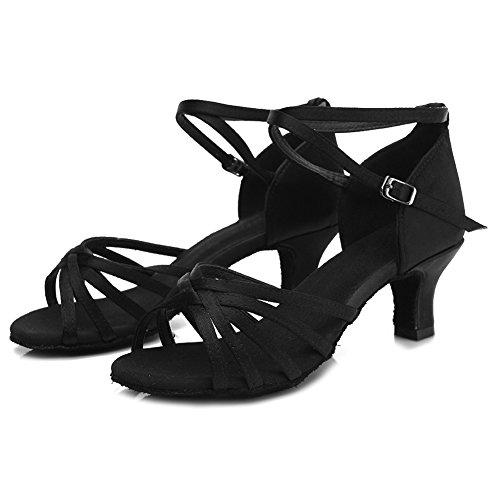Noir Ukqu213 Hipposeus Classique Latine Talon Danse Modle 5 Cm Chaussures De p4q1O