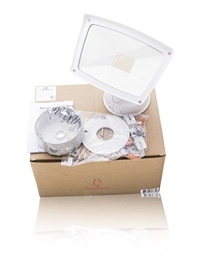 4800 Lumens - LED Wall Flood Light - White Housing- 3000K Warm White - LED Wall Floodlight - ETL & DLC Listed - 5 Year Warranty - LED Adjustable Wall Light by RuggedGrade (Image #1)