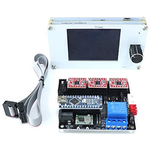 TOOGOO Cnc USB Offline Controller Diy Schneider Gravier Maschine Zubeh?r 3Axis Control Board Tft Lcd Control Panel