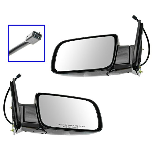 (Mirrors Power Black Folding Left/Right Pair Set for Chevy GMC Pickup Truck)