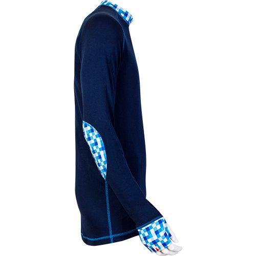 Caro Shirt blau Herren Langarmshirt Sionyx Funktionsunterwäsche Thermowäsche für Sport und Freizeit Snowboard Skifahren Langlaufen Radfahren Funktionsshirt