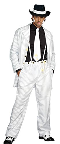 Dreamgirl Mens Zoot Gangster Suit Theme Party Fancy Costume, X-Large (46-48)
