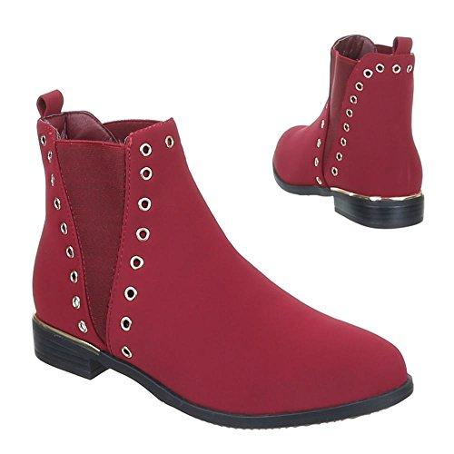 Ital-Design - Botas de Material Sintético para mujer Rojo - rojo