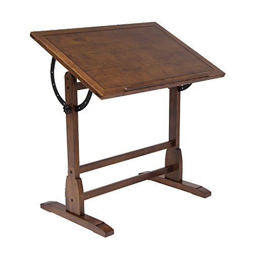 Offex Home Vintage Drafting Table 36'' Rustic Oak by Offex