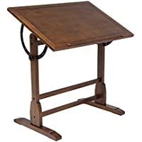 Offex Home Vintage Drafting Table 36 Rustic Oak