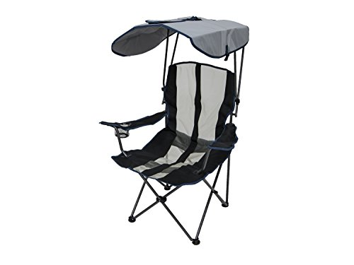 (Kelsyus Original Canopy Chair - Foldable Chair for Camping, Tailgates, and Outdoor Events - Navy Stripe)