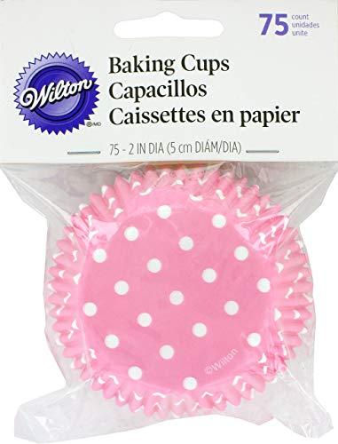 Wilton Standard Baking Cups, Light Pink Dots, 75-Pack -
