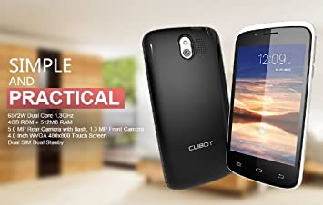 Cubot GT95 Smartphone Android 4.2 MTK6572W 3G 1.2GHz Dual ...
