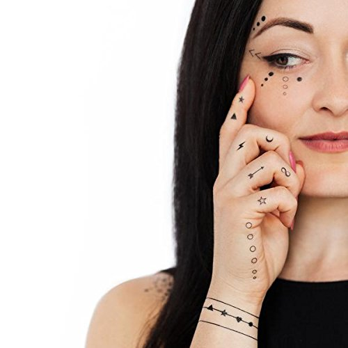 Tattly Temporary Tattoos Facial Expressions Sheets