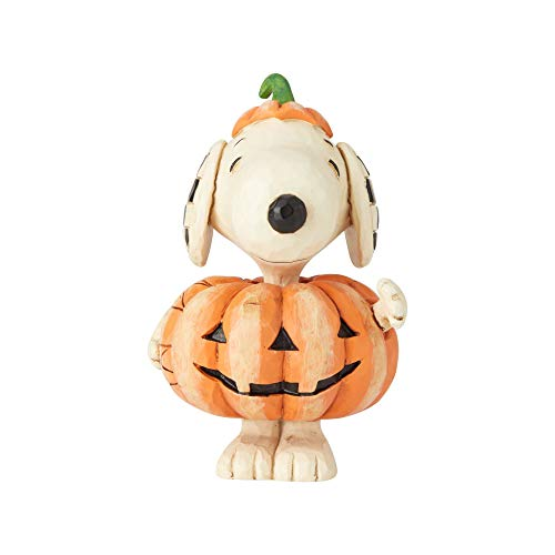 Enesco Peanuts by Jim Shore Snoopy Pumpkin Mini Figurine -