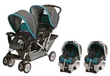 Amazon.com : Graco Double Stroller with Car Seats Included Travel ...