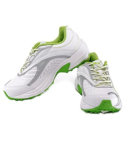 cade14a5c93 ... Buy Puma Cricket Lithium Rubber Spike Shoes White Green IND UK 9