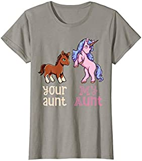 Perfect Gift Your Aunt My Aunt Unicorn Funny Aunt Family  Need Funny TShirt / Navy / S - 5XL