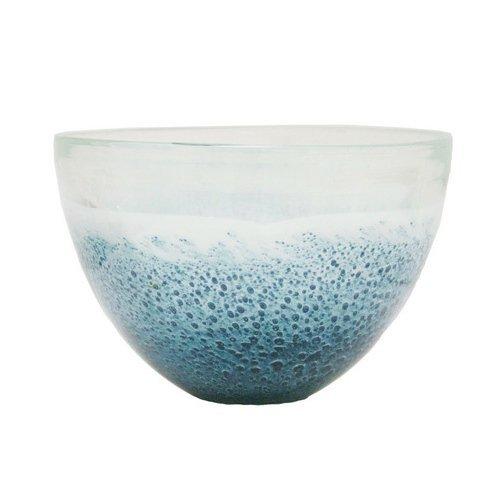 Renaissance 2000 Decorative Glass Vase, 7.3-Inch by 4.3-Inch by 7.3-Inch by 4.3-Inch, Blue [並行輸入品] B01NCBJ9KK