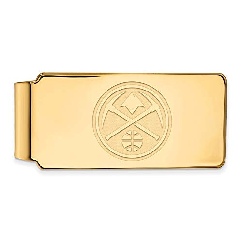 - LogoArt NBA Denver Nuggets Money Clip in 14K Yellow Gold