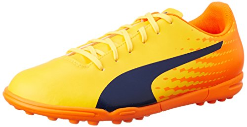 Puma Evospeed 17.5 Tt, Botas de Fútbol para Hombre Amarillo (Ultra Yellow-peacoat-orange Clown Fish 03)