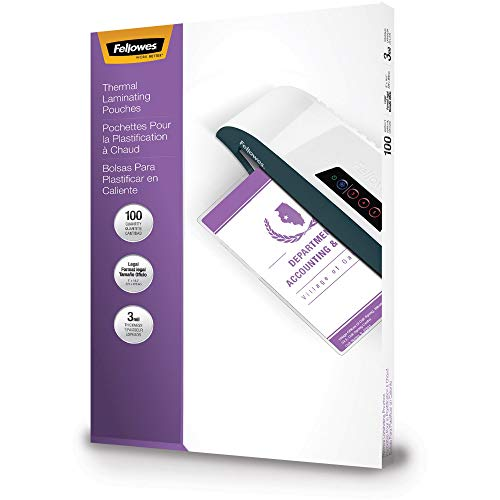 Fellowes, Inc 52455 Laminating Pouches 3mil Lgl 100/PK Clear from Fellowes