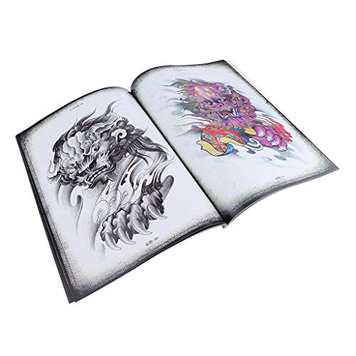 A4 Size China Traditional Story Figures Pattern Tattoos Flash Body Art Design Sketch Book
