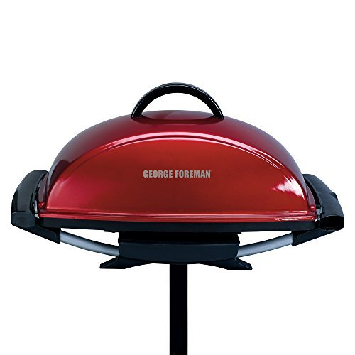 George Foreman GFO201R Indoor/Outdoor Electric Grill, Red by George Foreman