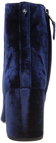 Sam Edelman Women's Taye Ankle Bootie, Black, 8 UK Inky Navy Velvet