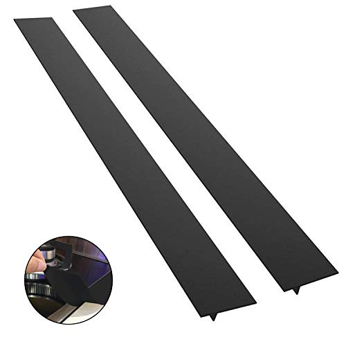 Black Silicone Gap Cover - 21 Inch Stove Counter Gap Cover - Long Gap Filler for Counters, Stovetops, Washing Machines, Heat-Resistant, Set of 2