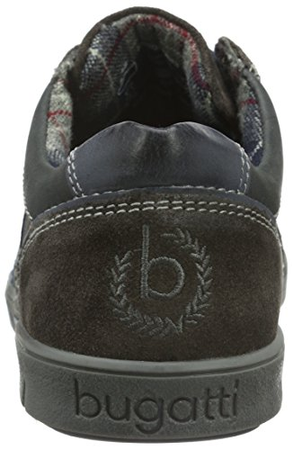 Bugatti K1004pr83, Zapatos de Cordones Oxford para Hombre Negro (schwarz/braun 102schwarz/braun 102)