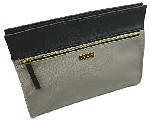 Estee Lauder Gray-Black Vinyl MakeUp Cosmetic Bag (Estee Lauder Makeup Bag)