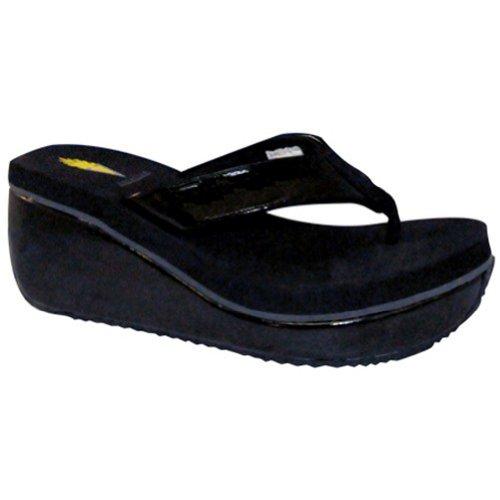 Volatile Women's Malted Sandal,Black,6 M US