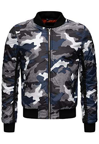 Redbridge Hommes Manche Longue Veste Longue Manteau Camouflage Armée Blouson Parka 1