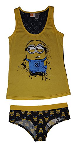 Despicable Me Minions Women's Cami and Panty Sleep Set (L) (Chip And Dale Costumes)