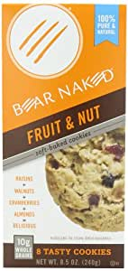 Bear Naked Soft Baked Granola Cookies, Fruit & Nut, 8.5-Ounce Boxes (Pack of 6)