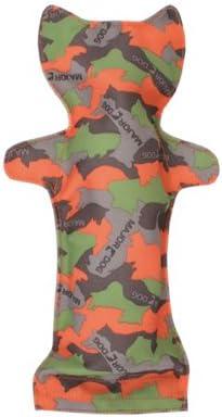 MAJOR DOG Grande Bottiglia Cane Gatto//Cagnolino di Peluche 31,8/cm Camo Verde//Arancione