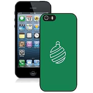 NEW Unique Custom Designed iPhone 5S Phone Case With Minimal Christmas Globe Decoration_Black Phone Case
