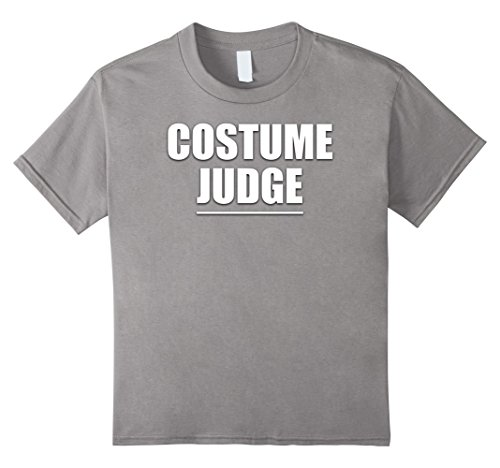 Kids Costume Judge Funny Halloween Party Outfit T Shirt 10 (Judge Outfit)