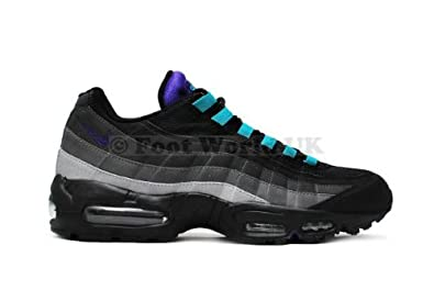 qqhsy Nike Men\'s - Air Max 95 SI - Black Grey Purple (UK 9.5): Amazon.co