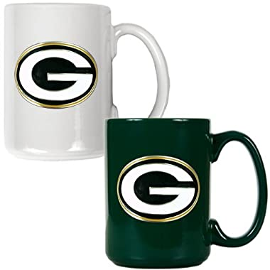 NFL Green Bay Packers Two Piece Ceramic Mug Set - Primary Logo