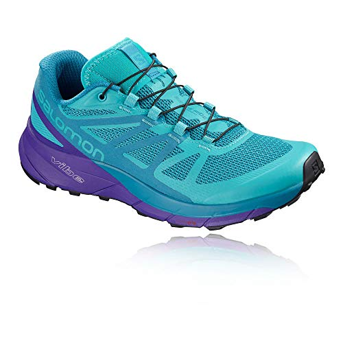 - Salomon Women's Sense Ride Running Trail Shoes Bluebird/Deep Blue/Black 10.5