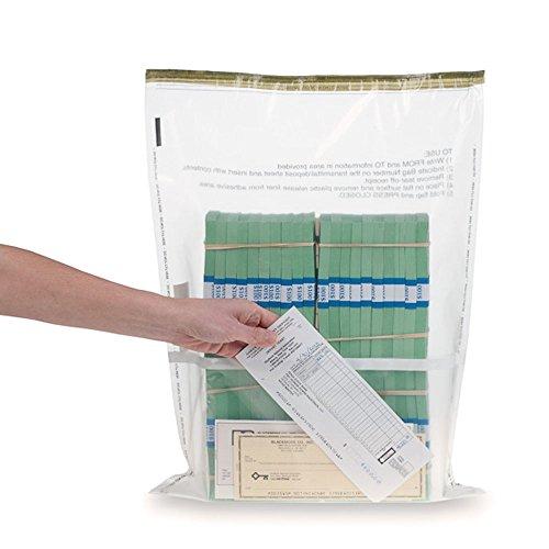 15W x 20H Clear Deposit Bags w/External Pocket – 100/Bx
