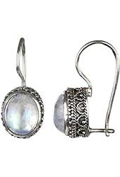 Genuine Moonstone Dangle Earrings