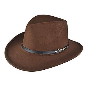 Womens Straw Cowboy Hat Shapeable Floppy Sun Hat Wide Birm Fedora Panama Hat for Beach