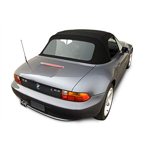 (Compatible for: BMW Z3 Convertible Top in Stayfast Cloth with Plastic Window (Black))