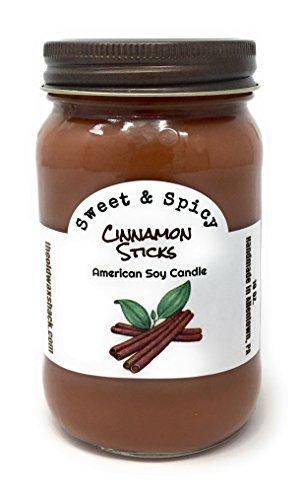 The Old Wax Shack Cinnamon Sticks Soy Candle - 16 Oz. Mason Jar