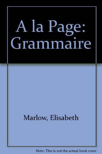A LA Page: Grammaire