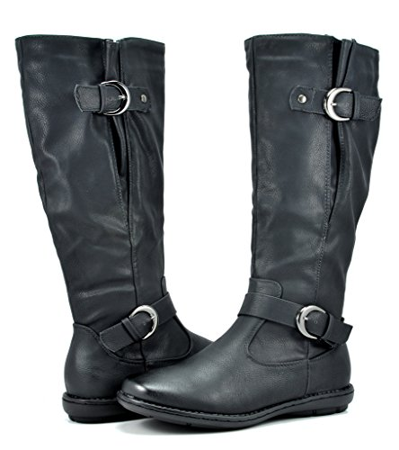 DREAM PAIRS Women's Summit Black Faux Fur-Lined Knee High Winter Boots Size 7 M US