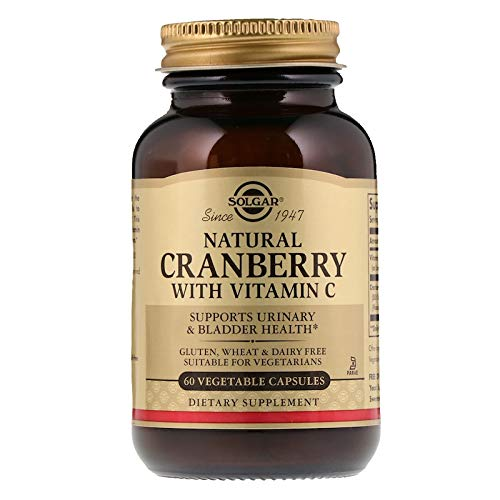 Solgar – Natural Cranberry with Vitamin C, 60 Vegetable Capsules