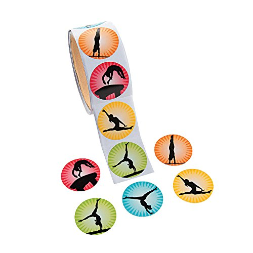 Gymnastics Stickers - 100 per roll