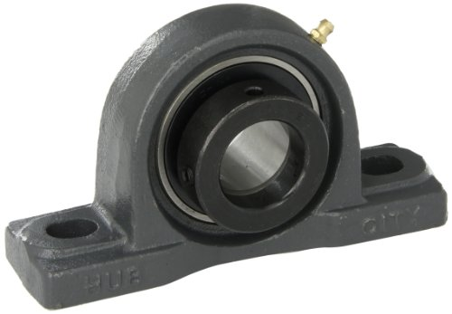 "Hub City PB220DRWX1-3/8 Pillow Block Mounted Bearing, Normal Duty, Low Shaft Height, Relube, Eccentric Locking Collar, Wide Inner Race, Ductile Housing, 1-3/8"" Bore, 2.22"" Length Through Bore, 1.812"" Base To Height"