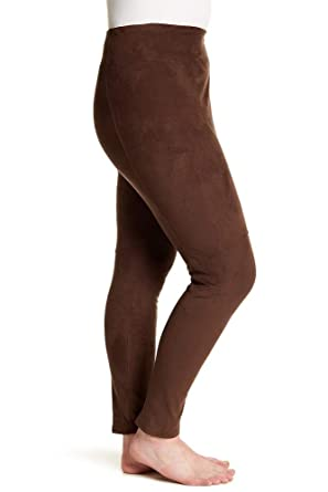 72815816b74 Image Unavailable. Image not available for. Color  Lysse High Waist Faux  Suede Leggings-1X Brown