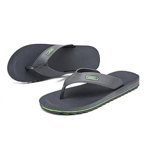 uomo skid Color Xujw all'usura Flip Dimensione da Outdoor spiaggia Uomo New flop Grigio Blu 2018 Anti da shoes Casual Wind Sandali 40 Stripes EU resistenti da Sandali 1Rg68q1